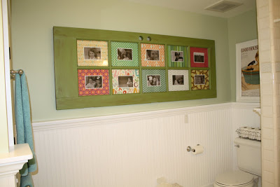 Turn an old door into a gorgeous photo frame
