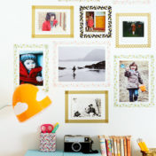 Use cute washi tape to create your own 'frames'