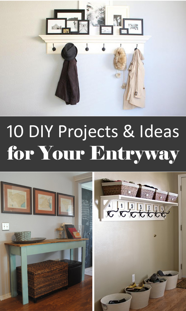 10 diy projects ideas for your entryway. Black Bedroom Furniture Sets. Home Design Ideas