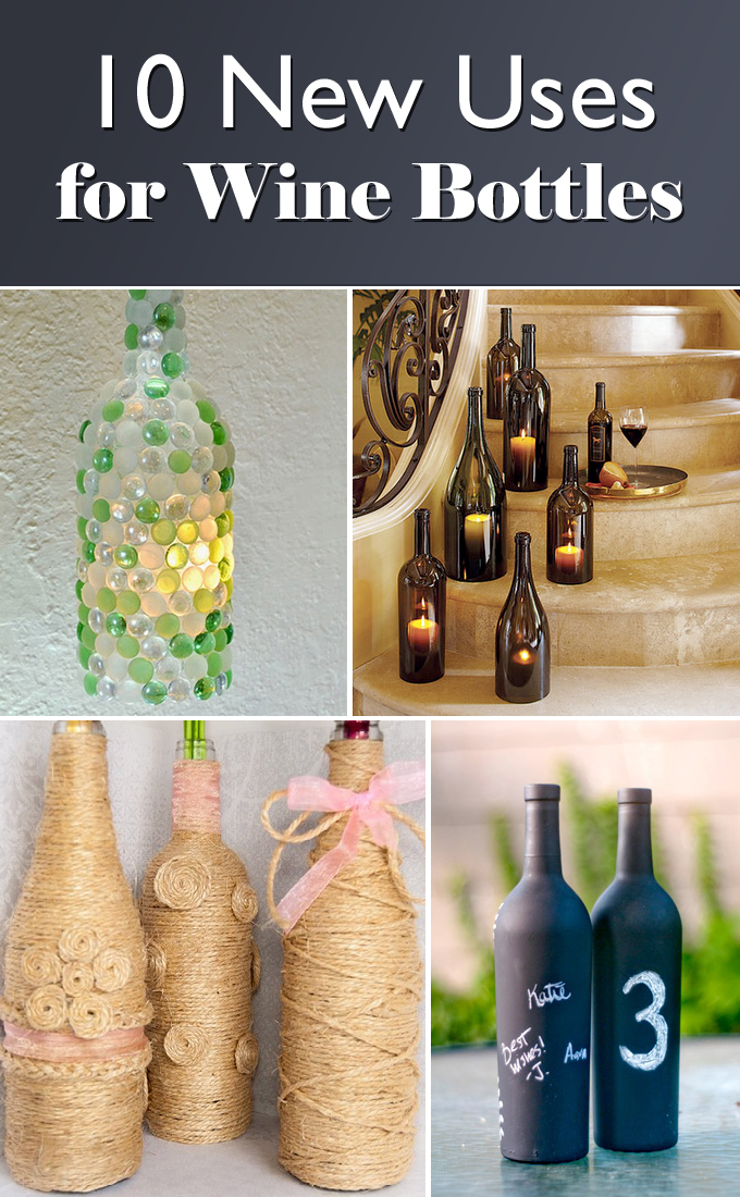 Decor Bottles Gorgeous 10 Creative Ideas For Interior Decorating With Wine Bottles Inspiration