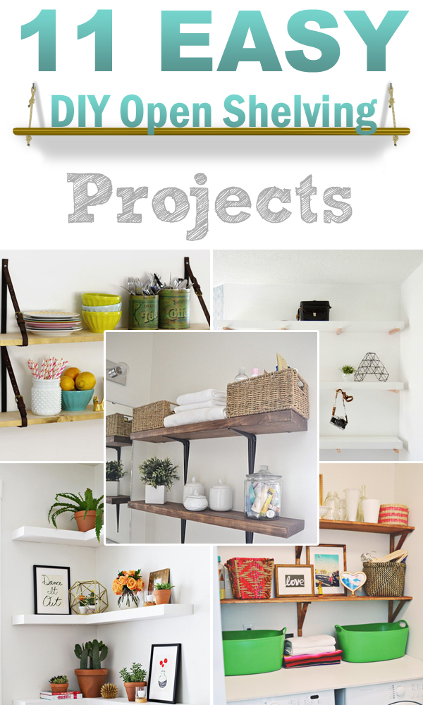 11 easy diy open shelving projects for any room shelves for kitchen cabinets shelves for kitchen plates