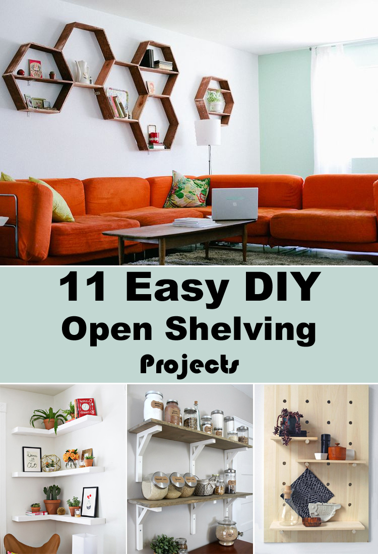 11 Easy Diy Open Shelving Projects For Any Room