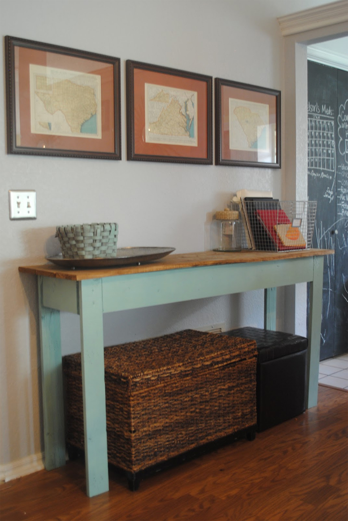 7 S Wood Console Table