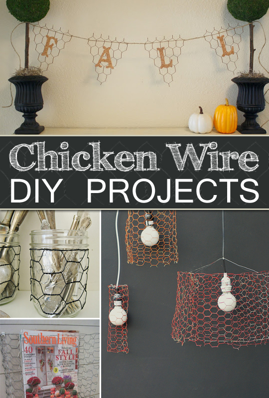 10 things to make with chicken wire for the home for Chicken wire craft ideas
