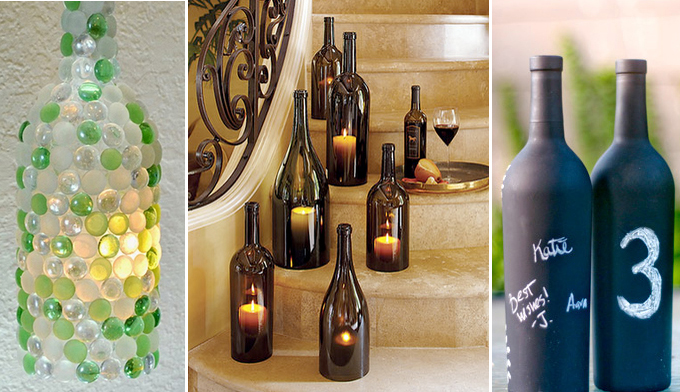 10 creative ideas for interior decorating with wine bottles for Creative ideas for empty wine bottles
