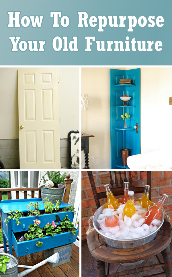 On 10 Interesting DIY Ideas How To Repurpose Your Old Furniture