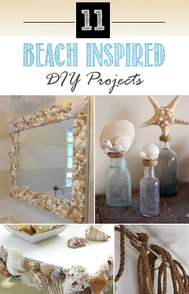 11 beach inspired diy projects for the home for Beach room decor