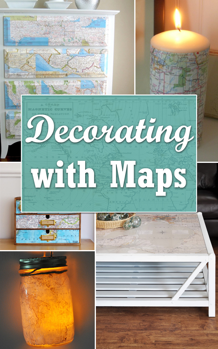 12 DIY Ideas for Decorating with Maps