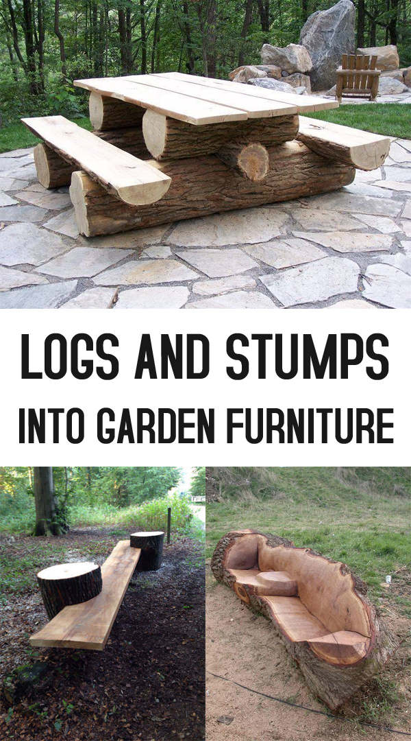 Terrific 19 Creative Ways Of Turning Logs And Stumps Into Garden Download Free Architecture Designs Embacsunscenecom