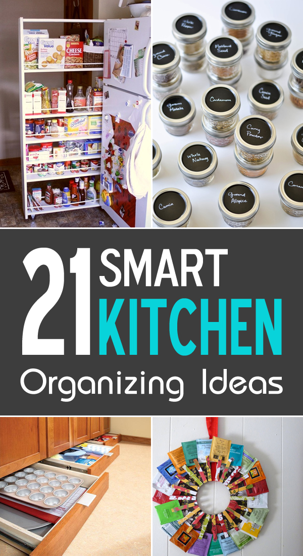 21 Smart Kitchen Organizing Ideas