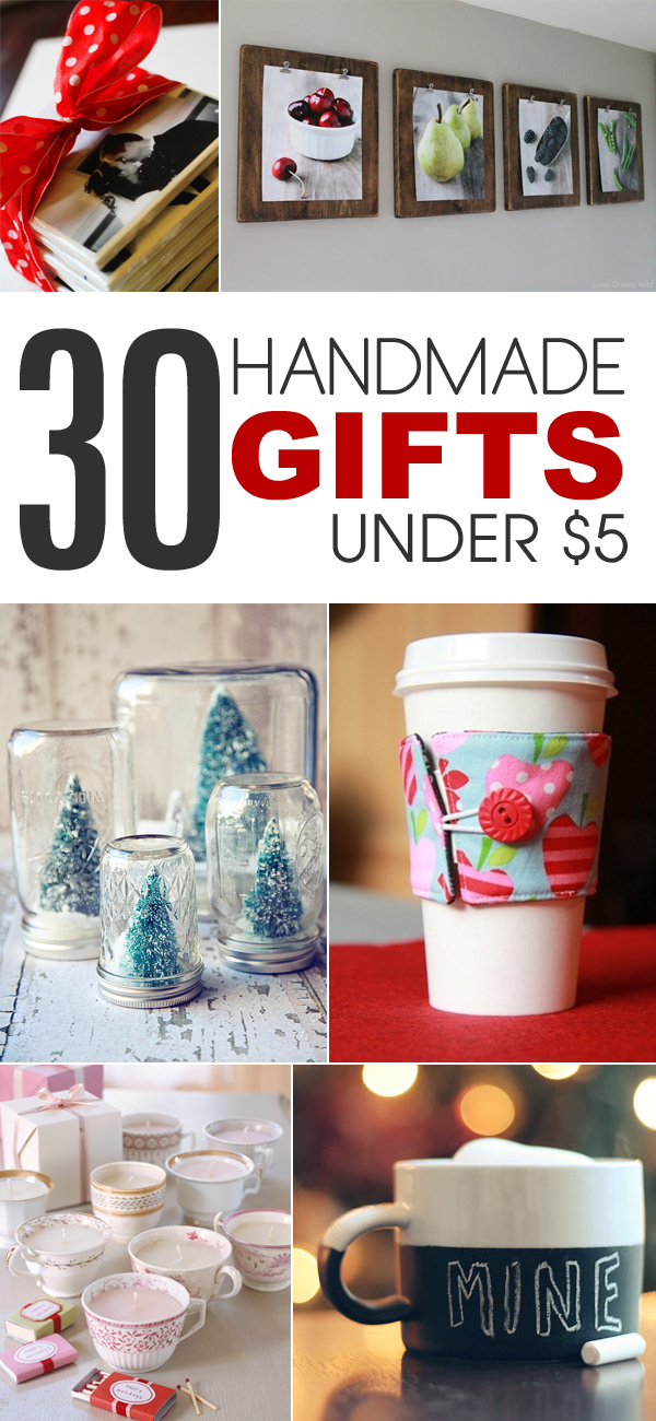 30 handmade gift ideas to make for under 5 for Easy diy birthday gifts
