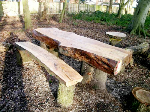 Creative Ways of Turning Logs And Stumps Into Garden Furniture
