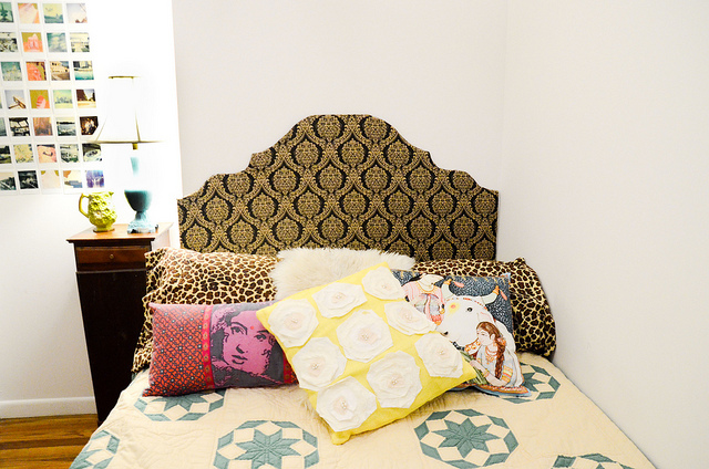 25 easy cheap diy dorm decor ideas Make your own headboard