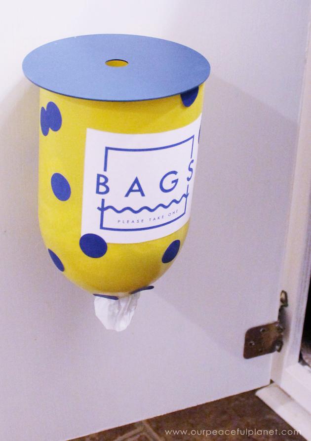 Make a bag dispenser from a plastic bottle