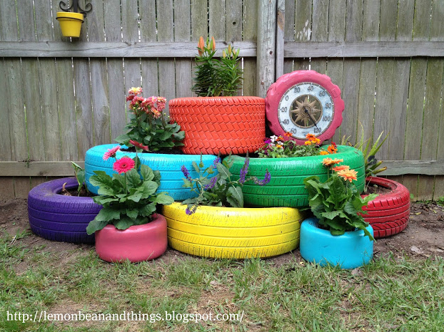 Cool Planters Made from Recycled Tires