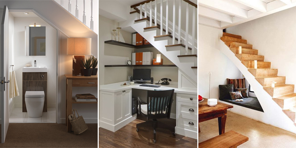 ... maximizing the space available under the stairs as good as possible.  View in gallery