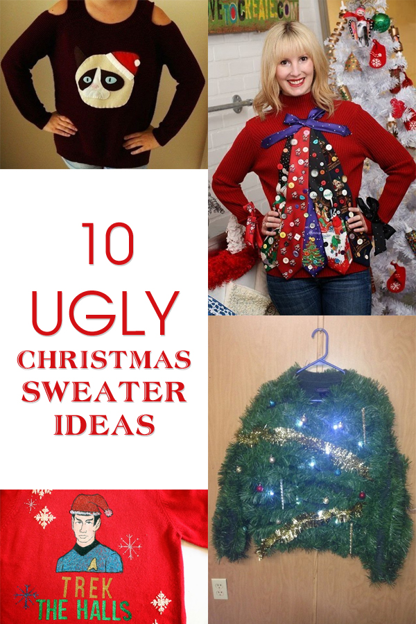 Make Your Own 'Ugly' Christmas Sweater with These 10 Inspiring Ideas