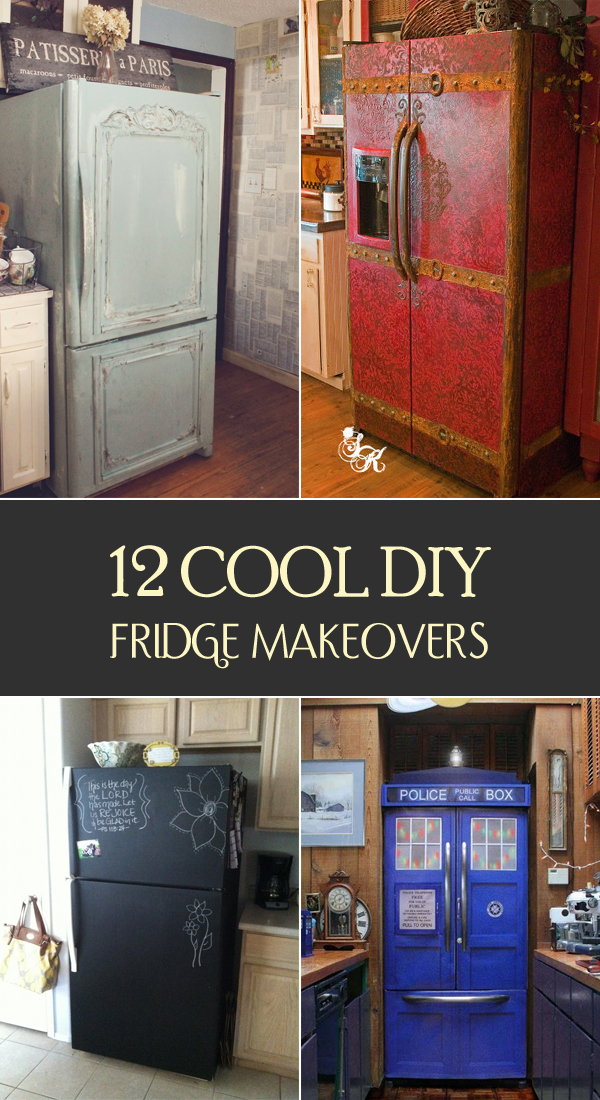 12 Cool DIY Fridge Makeovers
