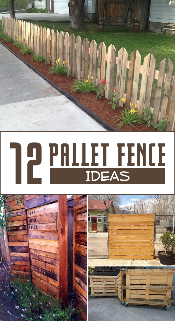 12 pallet fence ideas anyone can make for Building a fence around a garden