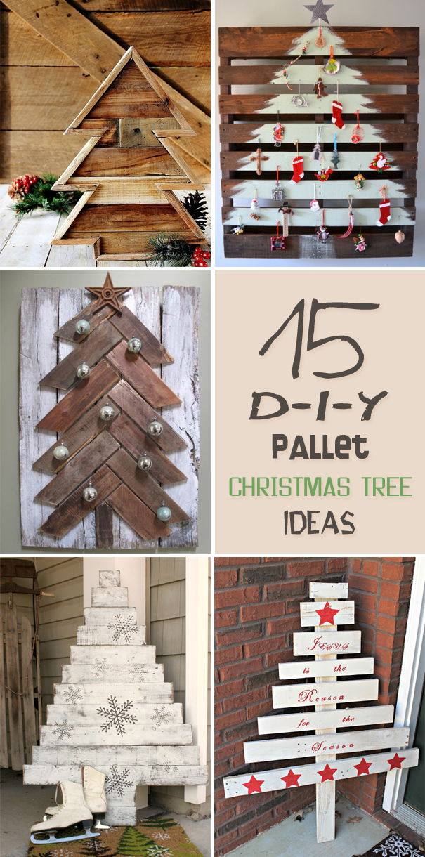 15 amazing diy pallet christmas tree ideas - Pallet Christmas Decoration Ideas