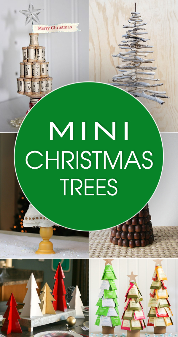 20 Adorable DIY Mini Christmas Trees