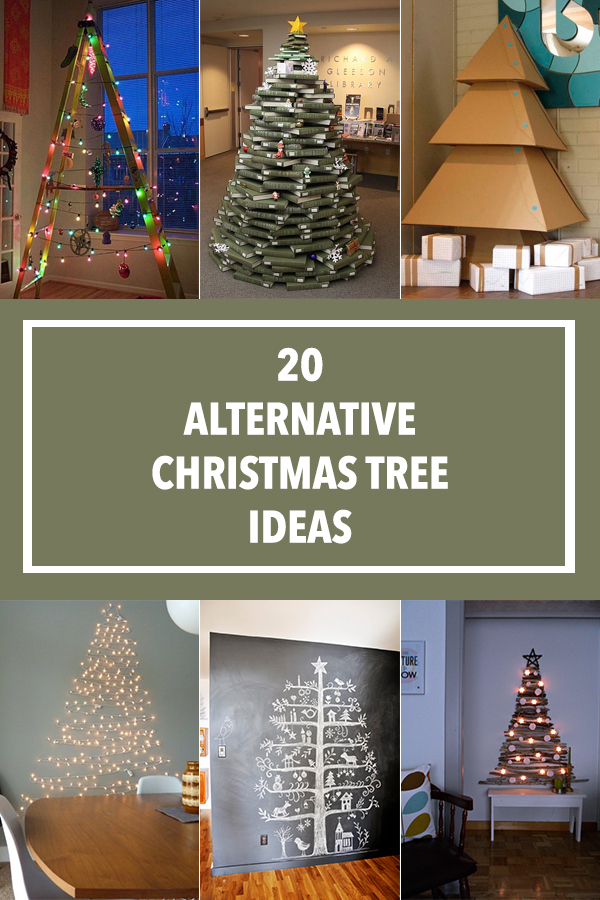 20 Alternative Christmas Tree Ideas