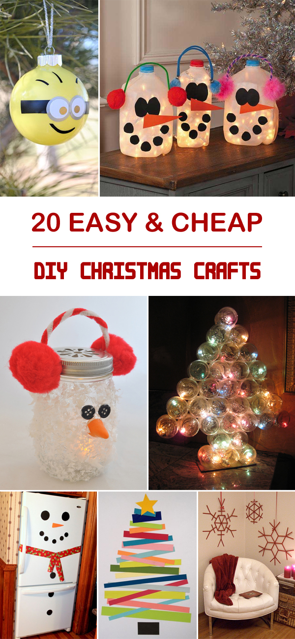 20 easy cheap diy christmas crafts for Cheap diy christmas crafts