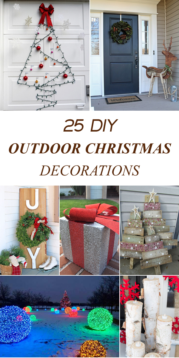Cheap Diy Outdoor Christmas Decorations.25 Amazing Diy Outdoor Christmas Decorations On A Budget
