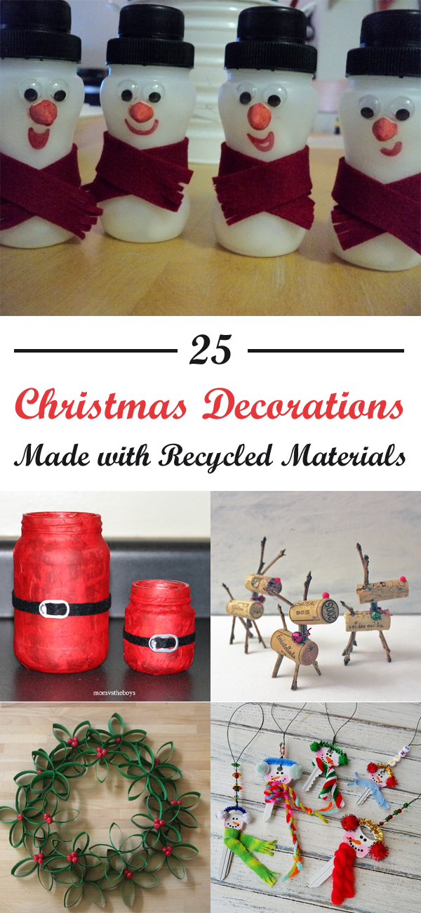25 christmas decorations made with recycled materials1 jpg