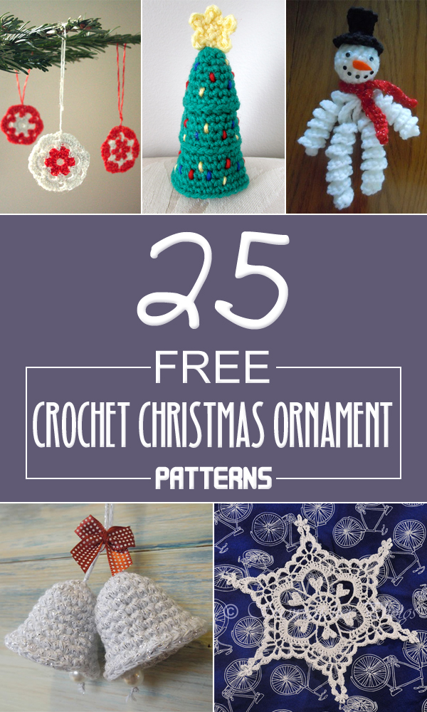 25 free crochet christmas ornament patterns - Free Christmas Decorations