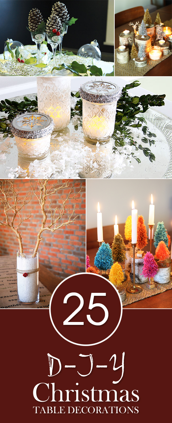 25 gorgeous diy christmas table decorations Diy christmas table decorations