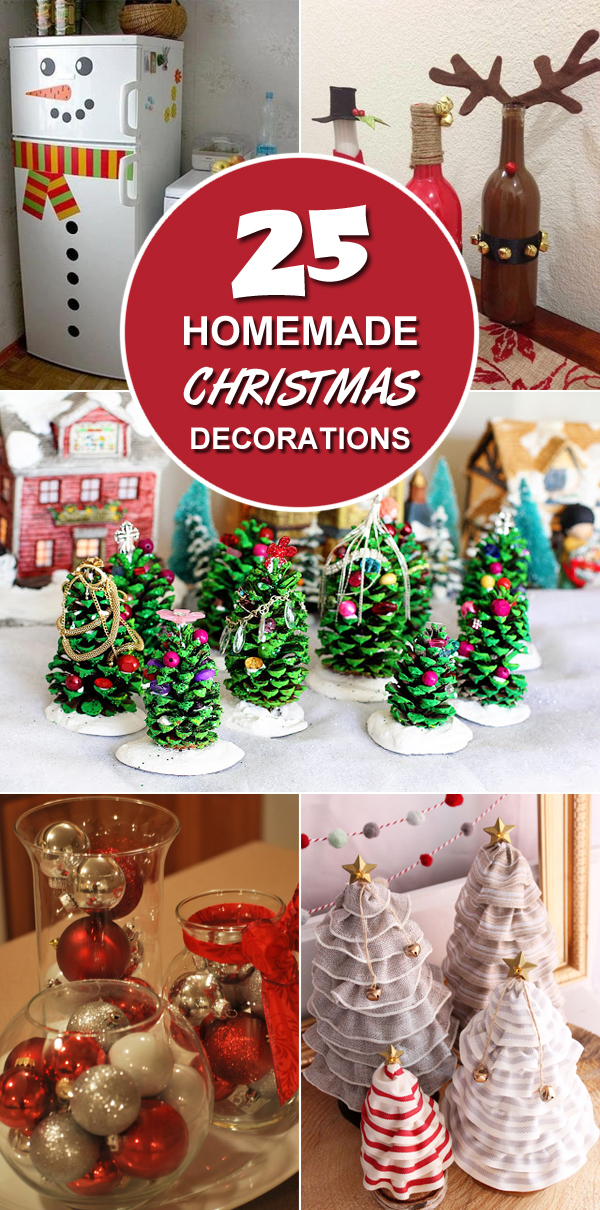 25 homemade christmas decoration ideas - Diy Christmas Decorations Ideas