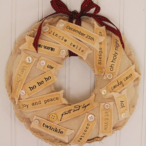 Canvas Tag Wreath