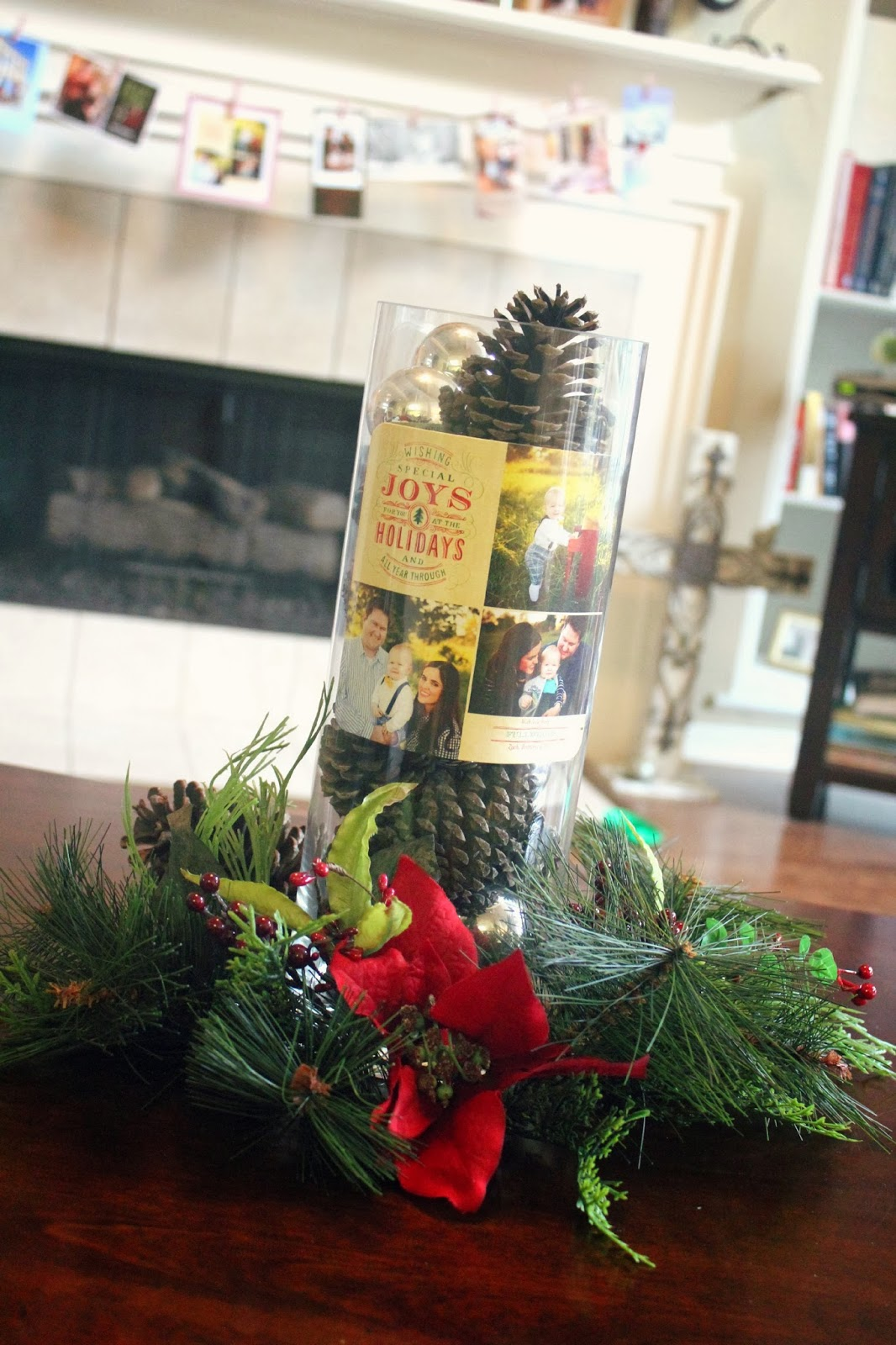 Christmas Card Centerpiece