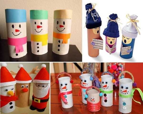 Christmas Decorations Made From Toilet Paper Rolls