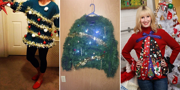 Ideas to make your own ugly christmas sweater