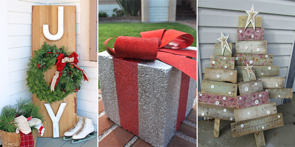 25 amazing diy outdoor christmas decorations on a budget - Cheap Outdoor Christmas Decorations