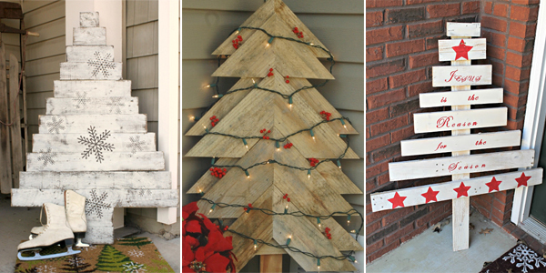 Wooden Pallet Christmas Tree