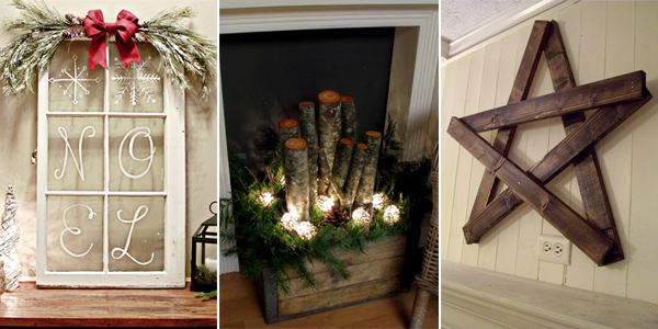 40 Rustic Home Decor Ideas You Can Build Yourself: 25 DIY Rustic Christmas Decorations