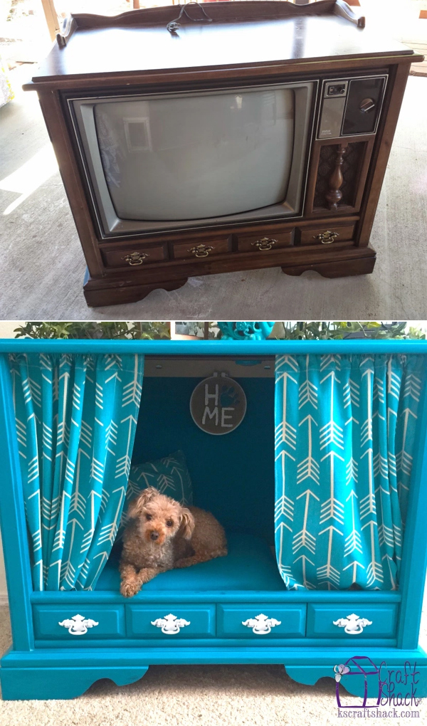 From a Vintage TV Cabinet to a Dog Bed