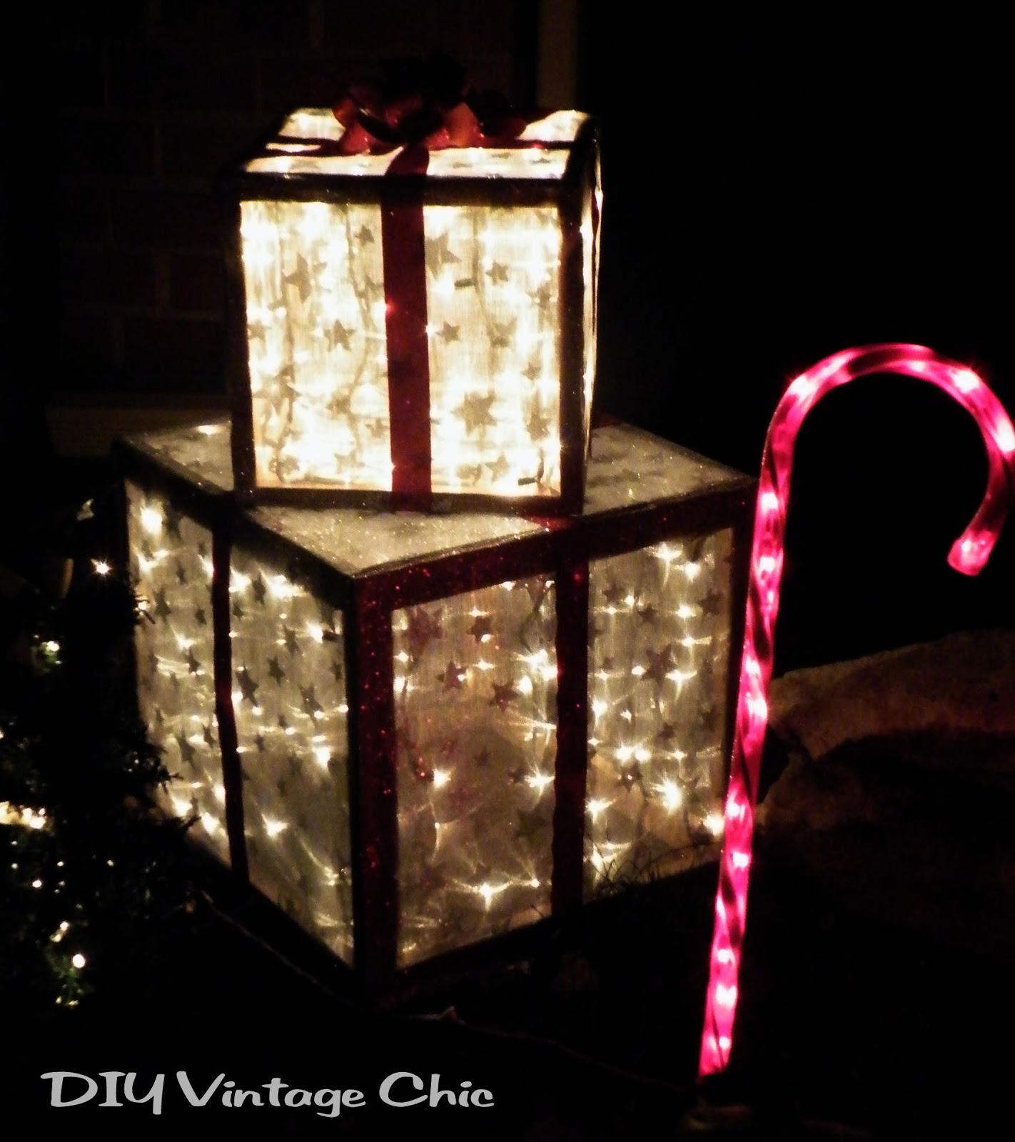 lighted christmas presents for outdoors - Outdoor Lighted Presents Christmas Decorations