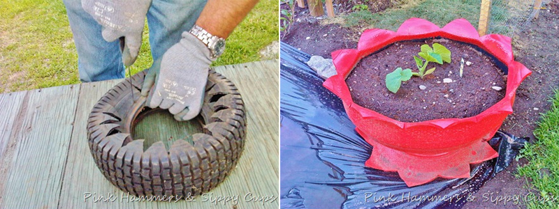 Make a Planter from an Old Tire