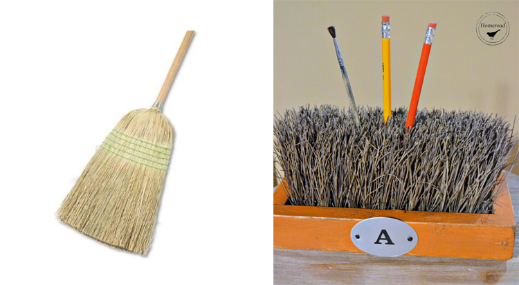 Push Broom Desk Organizer