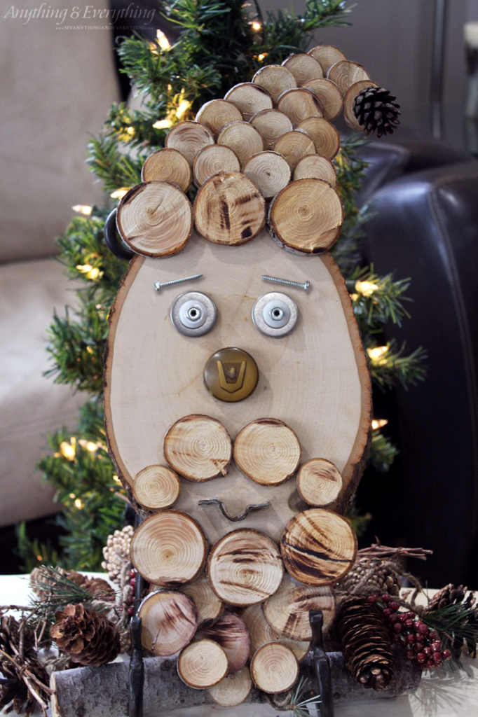 Rustic Wood Slice Santa