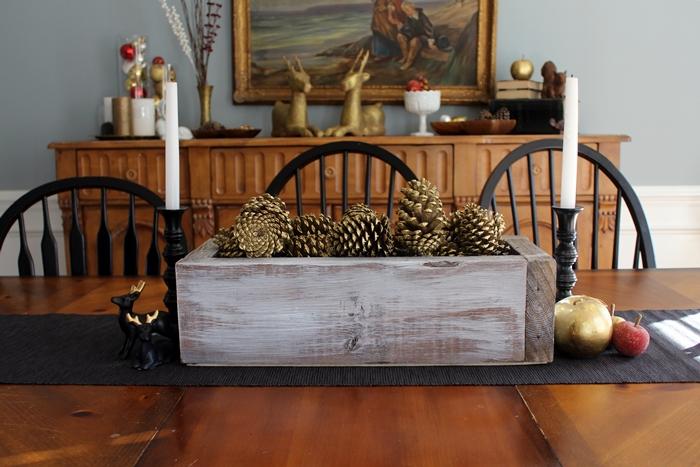 Rustic Wooden Box Centerpiece