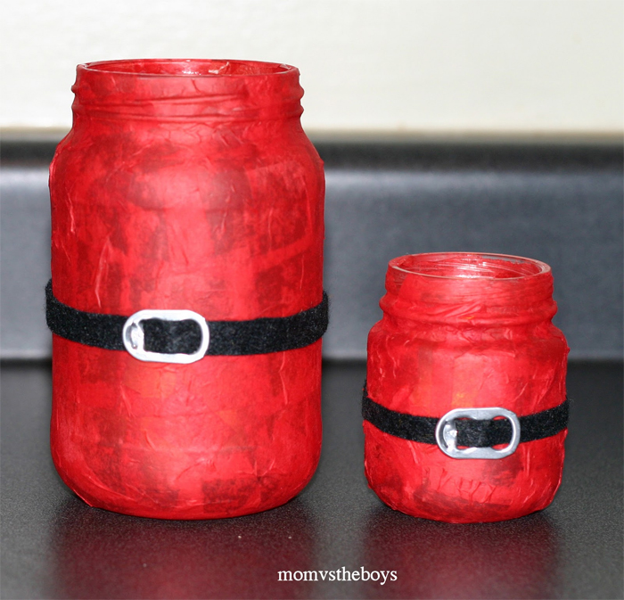 santa candles mason jar christmas crafts