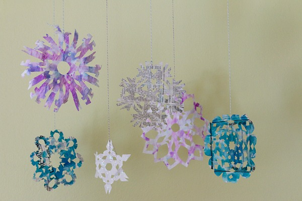 Snowflakes from Newspaper