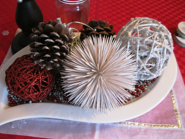 Sparkle Balls centerpiece