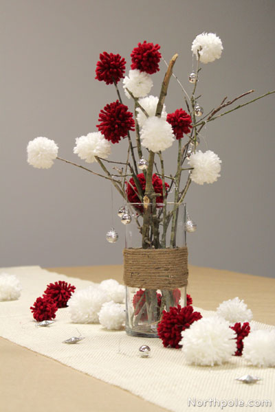 Sticks+Pompoms Centerpiece