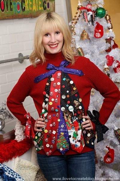 Tacky Tie Christmas Sweater